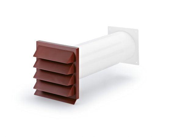 Compair Flow 125 K-Klima-R 125/125 gevelrooster baksteenrood
