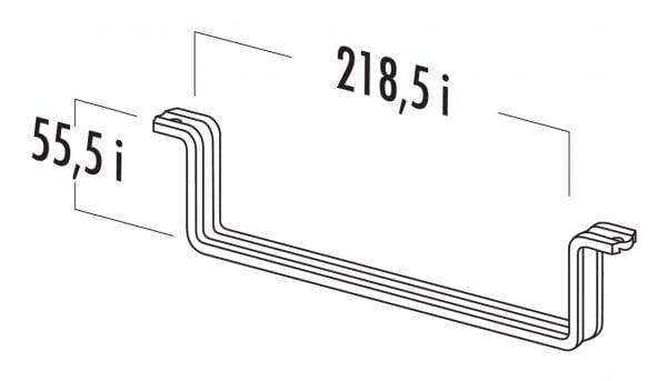Vlakke buishouder 125, Luchtafvoertoebehoren., wit