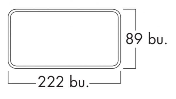 Compair Flow 150 F-VRO 150  vlakke buis, Luchtafvoer, wit