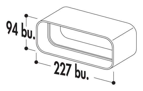 Compair Flow 150 F-RVB Buisverbinding, koppelstuk, wit