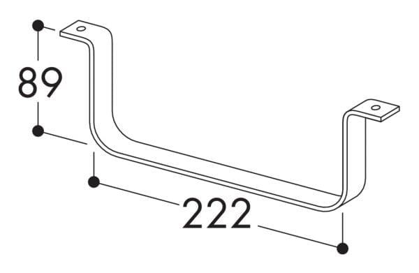 Compair Flow 150 Houder voor platte buizen 150, Luchtafvoer, rvs