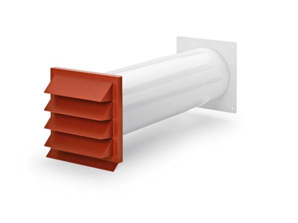 Compair Flow 150 K-Klima-R 150/150 muurdoorvoer baksteenrood