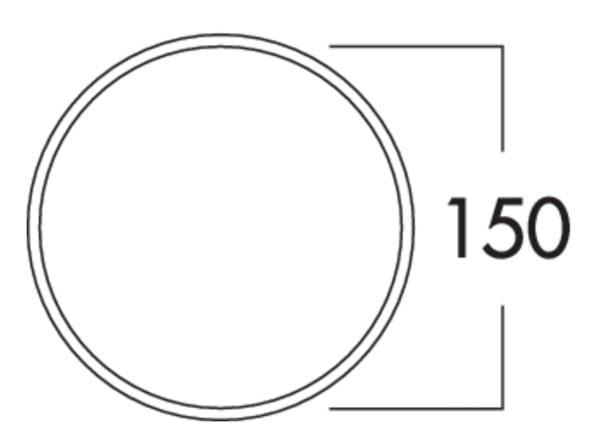 Compair Flow 150 K-Jal Buitenrooster lichtgrijs