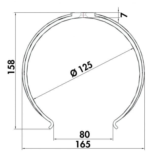 Compair Flow 125 Ronde buishouder 125mm