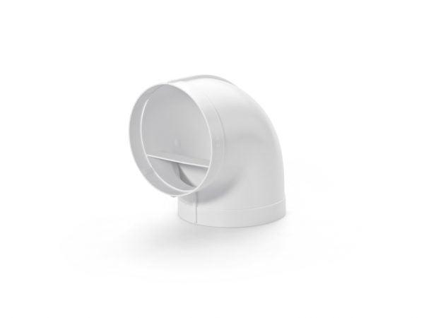 Compair Flow 150 R-RBV Buisbocht 90° koppelstuk wit