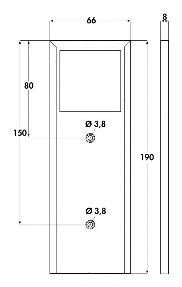 Intorno L kleurwissel LED, Onderbouw-/nislamp., afzonderlijke lamp zonder schakelaar