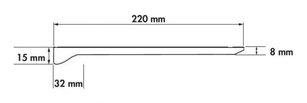 Addy LED, Langveldlamp., L 450 mm, 6,5 W