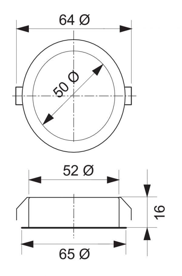 Riflett 1 LED, Inbouwspot., set-5, 4000 K neutraal wit