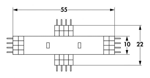 Fakto LED Flex kruisverbinder neutraal wit., wit
