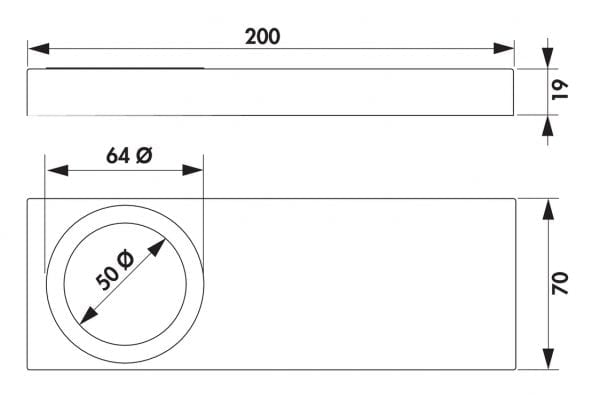 Rea 1 LED, Onderbouw-/nislamp., Set-2, 3000 K warmwit