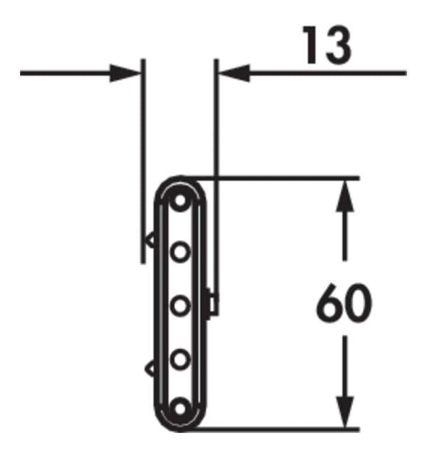 Melon LED, Onderbouw-/nislamp., 3 LED spots, L 580 mm, 4,5 W