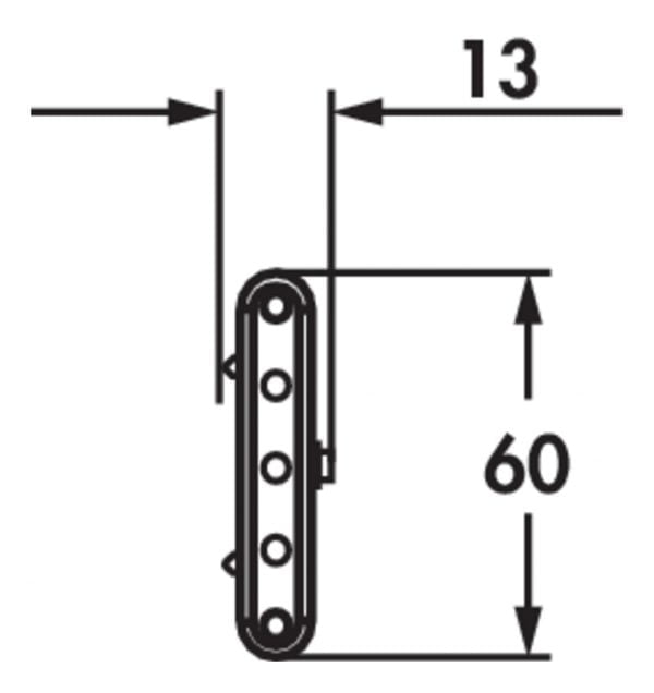 Melon LED, Onderbouw-/nislamp., 7 LED spots, L 800 mm, 10,5 W