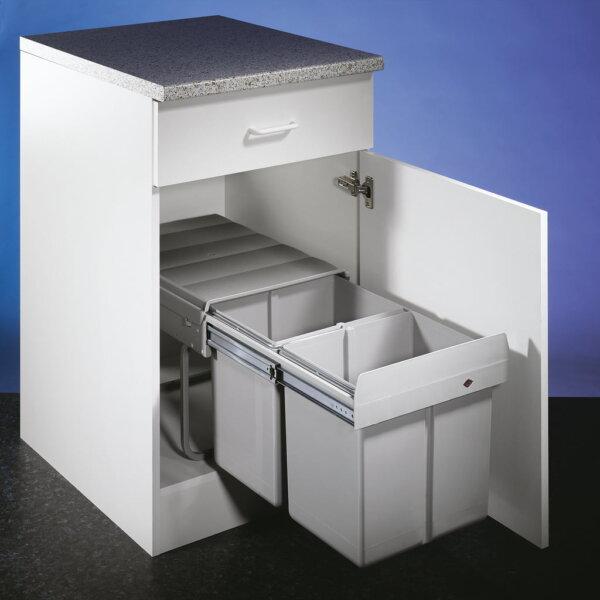 Double 2 DS, Afvalverzamelsystemen voor draaideuren., alu grijs