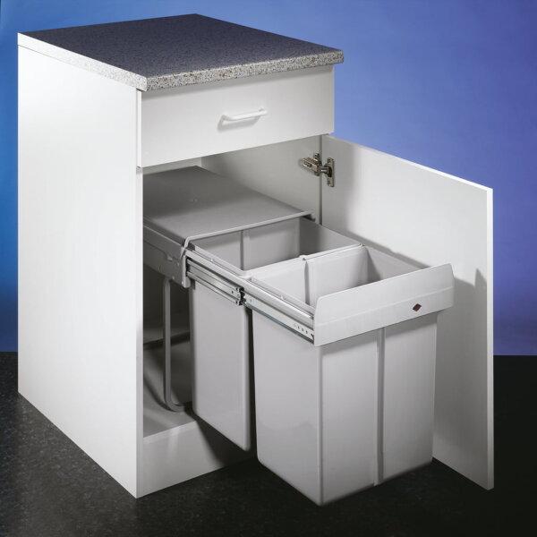 Double 4, Afvalverzamelsystemen voor draaideuren., alu grijs