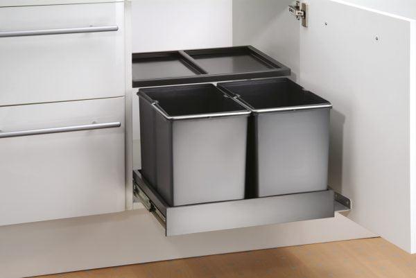 Double Shorty plus, Afvalverzamelsystemen voor draaideuren., antraciet