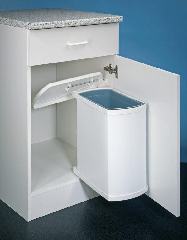 Uno 3418, Afvalverzamelsysteem voor Zwenktechniek., wit