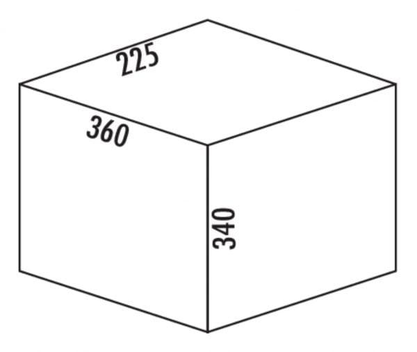 Claxィ 1/300-1, Afvalverzamelsystemen voor draaideuren., alu grijs