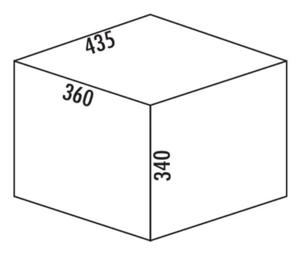 Claxィ 3/500-2, Afvalverzamelsystemen voor draaideuren., alu grijs