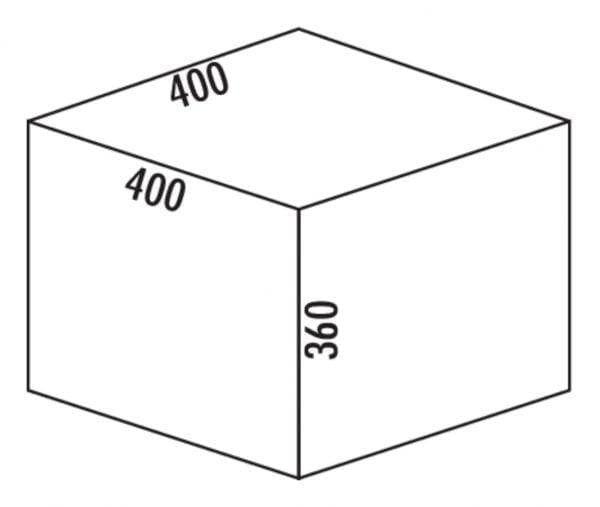 Coxィ Base 360 S/400-2, Afvalverzamelsysteem voor Frontuittreksysteem., zonder biologisch deksel, lichtgrijs, H 360 mm