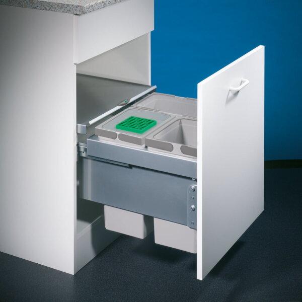 Coxィ Base 360 S/500-3, Afvalverzamelsysteem voor Frontuittreksysteem., zonder biologisch deksel, lichtgrijs, H 360 mm