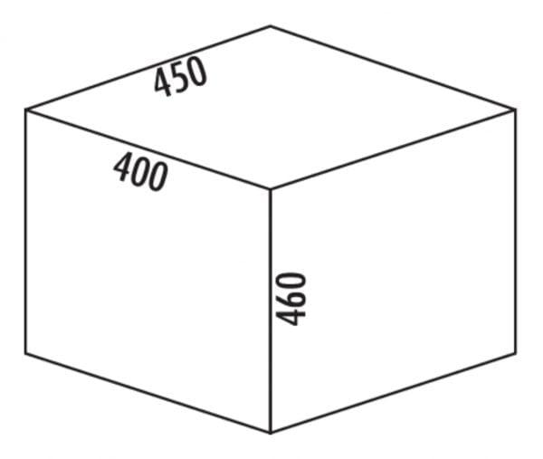 Coxィ Base 460 S/450-2, Afvalverzamelsysteem voor Frontuittreksysteem., lichtgrijs, H 460 mm