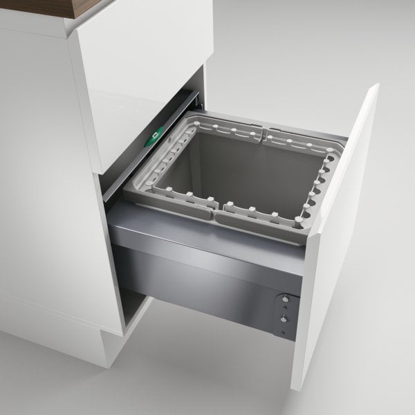 Coxィ Base 360 R/500-1, Afvalverzamelsysteem voor Frontuittreksysteem., lichtgrijs, H 360 mm