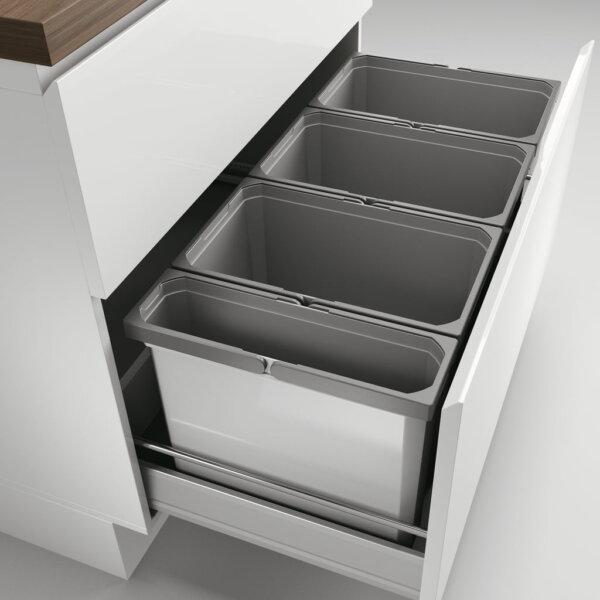 Coxィ Box 350 S/900-3, Afvalverzamelsysteem voor voorhanden uittreksystemen., lichtgrijs