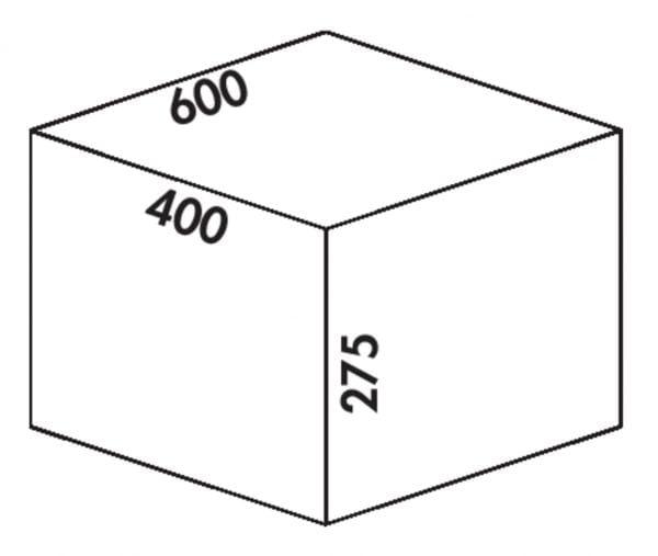 Coxィ Box 275 S/600-2, Afvalverzamelsysteem voor voorhanden uittreksystemen., lichtgrijs