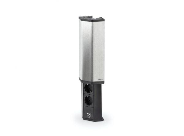 Evolineィ V-Port-USB, Opbouwstopcontactelement., roestvrij staal