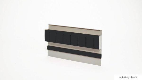 Linero MosaiQ Magnetische messenhouder 2, Relingsysteem., grafiet zwart