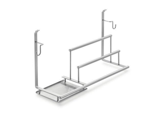 Linero 2000 Houder voor vaatwasmiddelen, Relingsysteem., roestvrij staalkleurig