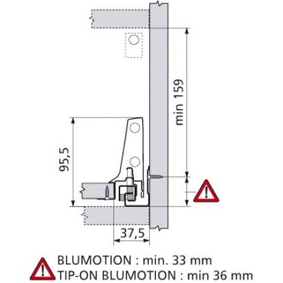 ANTARO Blum CMZ binnenlade Blumotion 196mm