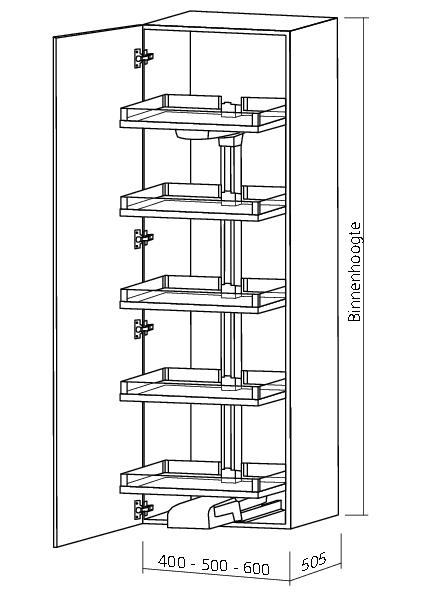 KESSEBOHMER CONVOY LAVIDO APOTHEKERSKAST inbouwhoogte 1900-1999mm